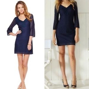 Lilly Pulitzer Alden Navy Lace Dress
